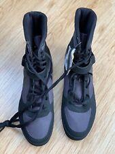 Reebok Boxing Shoes Size 9 Buck Boots Black Ash Grey CN0977 New