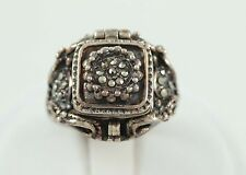 Estate Marcasite Sterling Silver Ring