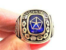 CHRYSLER-PLYMOUTH 10K YELLOW GOLD 'GOLD LEVEL' ACHIEVEMENT RING W/TOPAZ & DIAM.