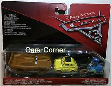 Disney Pixar Cars 3 Lightning McQueen as Chester Whipplefilter, Luigi & Guido