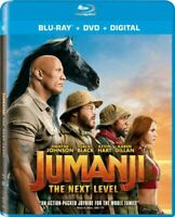 JUMANJI THE NEXT LEVEL BLU-RAY + DVD + DIGITAL Brand New & Sealed USA FAST SHIP