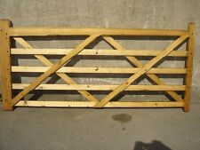 Five Bar wooden Drive Gate.10ft or made to measure. Decorative Drive Quality