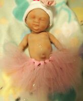 "Painted Micro Preemie Full Body Silicone Baby Girl Doll ""Tobi"""