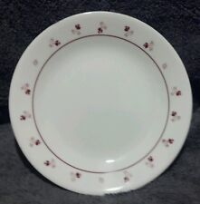 """MINT Set of 11 Corelle round 10-1/4"""" dinner plates - white with red rose flowers"""