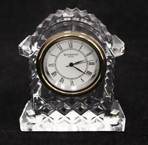 WATERFORD CRYSTAL Small Clock Ornament - C53