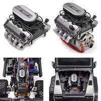 V8 F76 Engine Motor Fan Radiator for 1/10 RC Traxxas TRX4 TRX6 G500 SCX10 D90