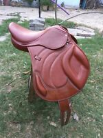 "New Jump Close Contact 100% Genuine Leather Saddle (Available size 16"" 17"" 18"")"