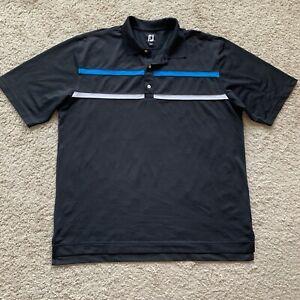 Footjoy Mens 2XL XXL Black Short Sleeve Polo Shirt RR03