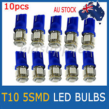 10 X T10 LED 5SMD 5050 Blue 194 168 Car Light Bulb 12V Wedge Tail Side Auto