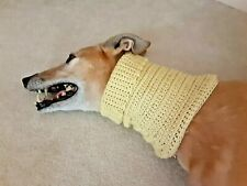 Greyhound Dog Light Yellow Snood 2 Cover Neck **100% Donation 2 Cure K9 Cancer
