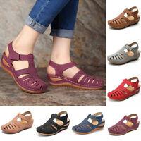 Women Orthopedic Sandals Comfy Closed Toe Mules Summer Slippers Flat Shoes .f