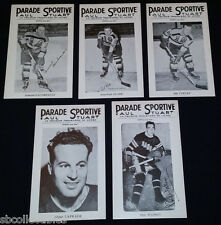 1940'S - LA PARADE SPORTIVE - NHL - RANGERS + BRUINS - PHOTOS - (5)
