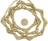 Brass trade beads African handmade Ashanti Asante Ghana lost wax ethnic Bronze