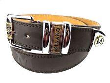 "BELT LARGE BROWN MEN'S QUALITY LEATHER BELT BY MILANO WAIST 36"" - 40"" Wide 1.5"""