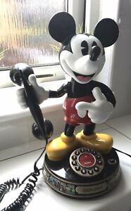 Rare Disney Anniversary Mickey Mouse Animated Talking Phone