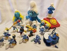 SMURF PVC Figures Vintage New Plush Mixed Telephone