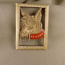 broche vintage chien scottish terrier 1930 bakélite  dog brooch