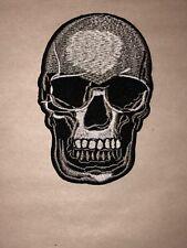 Patch-calavera con huesos y dorada con bucle-Patch