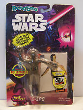Star Wars JusToys C-3PO Bend-Ems MOC 1993 Silver foot version VHTF