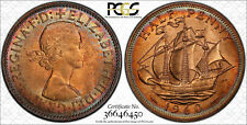 NQC 1960 1/2D Great Britain S-4158 PCGS 65 RB (Tone Colors) None Graded Higher