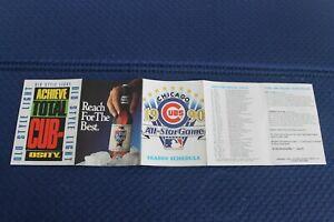 Chicago Cubs pocket schedule 1990