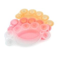 3 Colors Nail Art Dappen Dish for Paint Color Mixing Palette UV Gel Brush Tools