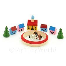 Maison de poupées miniature Set de 10 bois Bâtiments/pièces