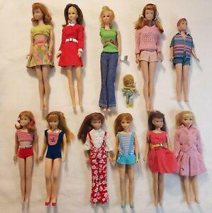 Vintage 1960's Barbie Friends Midge, Francie, Skipper, Scooter & Ricky: 11 Dolls