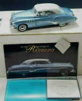 FRANKLIN MINT 1949 BUICK RIVIERA COUPE MODEL CAR 1/24 SCALE DIE-CAST MIB