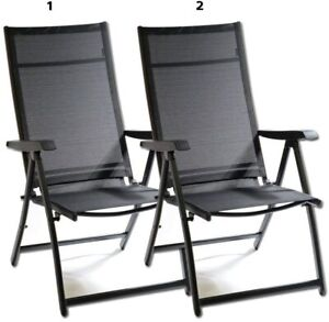 Heavy Duty Adjustable for 7 Different Angles Folding Arm Chair Indoor Outdoor Ga