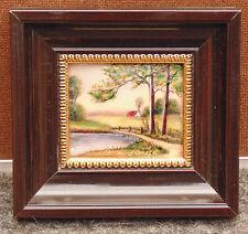 rare magnifique ancienne miniature émaux limoges / cuivre signé pierre bonnet n1