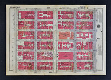1934 New York City Map Central Park East Hunter College - 5th Avenue 65th-71st