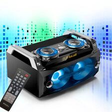 120 Watt Stereo Anlage Lautsprecher LED´s Sound Boom Box mobil BLUETOOTH USB SD