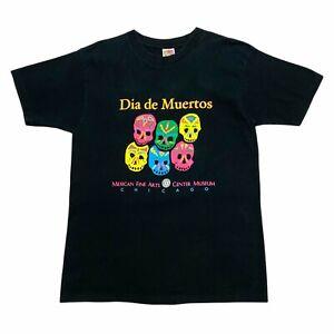 Dia de Muertos Mexican Fine Arts Center Museum Chicago Tshirt   Vintage 90s VTG