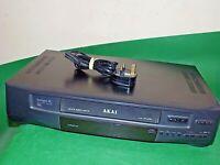 AKAI VS-G206 Video Cassette Recorder VHS Smart VCR Black Made Japan FULLY TESTED