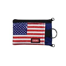 Chums SurfShorts Tear/Water Resistant Wallet, American Flag, Lightweight/Durable
