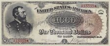United States, Treasury Note (Grand Watermelon) $100 & $1000, 1890, REPRODUCTION