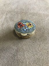 Vintage Micro Mosaic Pill Box Italy