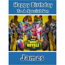 Fortnite Birthday Card - Personalised - Son Grandson Brother Boy Children