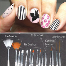 15pcs White UV Gel Nail Art Painting Draw Dotted Pens Wire Brushes Tools Sets