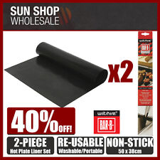 100% Genuine! WILTSHIRE Bar B Accessories 2 Piece Hot Plate Liner Cooking Sheet!