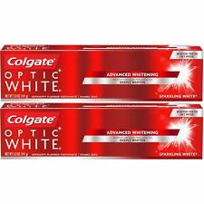 (2 Pack) Colgate Optic White Advanced Whitening Toothpaste Sparkling White - 5oz