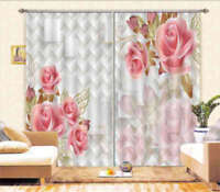 The Opposite Rose 3D Curtain Blockout Photo Printing Curtains Drape Fabric
