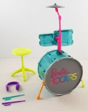 New Barbie Doll and the Rockers Drum Set Rare Hard To Find Musical Instruments
