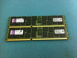 Kingston 16GB(2 x 8GB) KTH-PL313/8G PC3-10600 DDR3 ECC Registered Server RAM C81