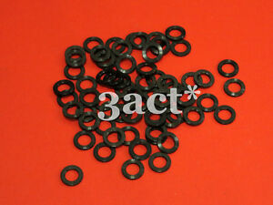 4pcs M5 Titanium / Ti Bolt Washer Black (Fit Brake, Stem, Bottle Cage, Shifter)