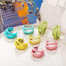 Candy Color Earrings Fashion Circle Geometric Earrings Dangle Style Earrings New