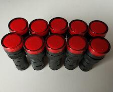 10pcs 220V AC 16mm Red LED Indicator Signal Light AD16-16C