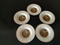 5 ANTIQUE 1930s  BOOTHS CORINTHIAN FARM SCENE COTTAGE SOUP BOWLS  TRANSFERWARE