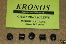 Kronos  Aluminum Double Chainring Bolts Black - 5 pcs.